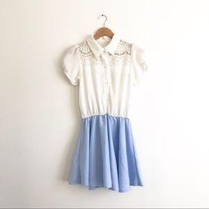 Vintage Lace Detail Dress Sz S
